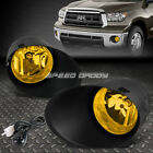 FOR 07-13 TOYOTA TUNDRA PICKUP YELLOW LENS OE DRIVING PAIR FOG LIGHT LAMP+SWITCH