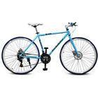 "Cool 26"" Men's Women's Steel Road Bicycle School Double Disc Brake Xmas Gifts US"