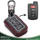 Vitodeco Leather Keyless Smart Key Case for Toyota Corolla, Camry, Avalon, Rav 4