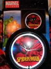 """Spiderman Neon Wall Clock Lighted 15"""" Pub Light Man Cave Marvel The Avengers New"""