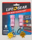 Carabiner with LED Flashlight Keychain Life Gear 2 pack