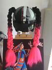 1 pcs Punk Style Motorcycle Helmet Decoration Twist Braids Ponytail Hair