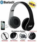 iTrak Wireless Bluetooth Headphone; Over Ear; Foldable; Noise Canceling; Audio &