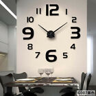 3D DIY Removable Wall Clock Home Crystal Mirror Vinyl Art Sticker Decals Decor