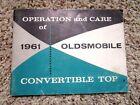 1961 Oldsmobile Convertible Top Manual Factory GM Original Power Operated RARE
