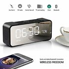 2018 Newest Alarm Colck Radio with 10W Wireless Speaker Clock 12/24 Hours & LED