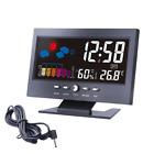 LED Digital Projection Alarm Clock Loud Snooze Calendar Weather Color Display