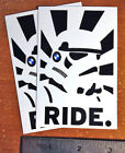 ATGATT and RIDE!! Motorcycle Vinyl Sticker 4.25inX2.75in