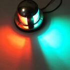 1pcs 12V Stainless Steel Boat Marine Yacht Bow Navigation LED Light Green & Red