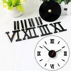 Individual Modern DIY Interior Roman Wall Clock 3D Sticker Home Mirror Effect