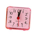 Fashion Mini Quartz Clock Travel Alarm Clock Bedroom Home Table Clock Pink