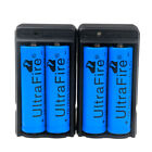 4pc 18650 Battery 3000mAh Li-ion 3.7V Rechargeable Batteries +2*Dual Charger USA