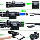 For Rifle Remote Switch 2 Mounts Tactical 532nm Green Laser Dot + 2x BAT+Charger