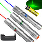 3PCS Miliatary 20Miles Green&Blue&Red  Violet Light Beam 1MW Laser Pointer Pen!