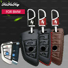 Leather Car Key Chain Case Cover Holder For BMW F30 X1 X3 X5 X6 X7 E34 2/3button