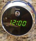 JENSEN JCR-222 AM/FM 120° PROJECTION DIGITAL ALARM CLOCK RADIO Purple rare p