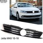 New Front Bumper Center Grille Radiator Grill Shiny Black For VW Jetta MK6 15-18