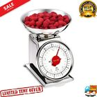 11 Lb. Retro Stainless Steel Analog Weight Scale Scale Mechanical Food Kitchen