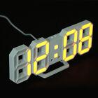 Modern Digital 3D LED Wall Desk Clock Watches 24/12 Hour Alarm Snooze