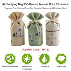Natural Auto Air Purifying Bamboo Charcoal Bag/ Air Freshener Odor Eliminator x1