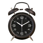 """Portable 4"""" Twin Bell Loud Travel Alarm Clock With Backlight Non Ticking Clocks"""