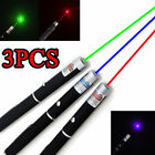 3PCS 5MW Laser Pointer Pen Green +Blue/Violet + Red Light Beam Powerful US Stock
