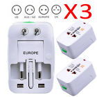 3x Best US to EU Europe Universal AC Power Plug Travel Adapter Charger Converter