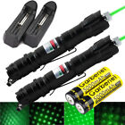 2pcs 10Miles 18650 532nm Green Laser Pen Star Cap Belt clip+Battery+Charger USA