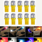 10pcs Amber T10 5SMD 5050 Car LED Wedge Light Plate License 194 2825 501 Bulbs