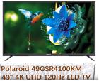 """NEW Smart Polaroid 49GSR4100KM 49"""" 4K UHD 120Hz LED TV with Built In Chromecast"""