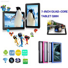"""7"""" A33 16G Tablet PC Quad Core WiFi Bluetooth Android4.4 HD Dual Camera Q88H"""