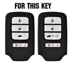 4 Button Silicone Key Fob Cover Case For Honda Accord Civic CRV CRZ HRV Pilot BE