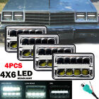 "4""x6"" LED HEADLIGHT For Peterbilt Kenworth GMC Peterbilt LIGHT BULB T800 T400"