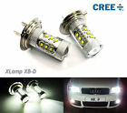 2x H7 477 CREE XB-D 12 LED Projector Fog Driving Light for Audi 80W Bulb White
