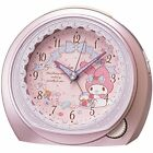 Seiko Clock Alarm Analog Clock My Melody Pink Metallic CQ143P from Japan O774