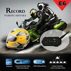 1200M BT Motorcycle Helmet Interphone Motorbike Intercom Headsets for Rider Q4G5