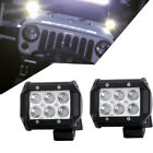 2x 4inch LE D Work Driving Light Spot Beam Bumper Lamp For Offroad 4WD 4x4 Boat