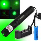 Visble Beam Light  532nm Green Laser Pointer 301 Lazer Pen 18650 Battery&Charger
