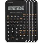 Sharp EL-501XBWH Scientific Calculator 5 Pack