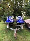 Pair of 2007 Yamaha FX Cruiser Waverunners (Covers, Low Hours, Aluminum Trailer)