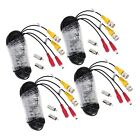 KKmoon BNC Cable CCTV Surveiillance Camera Cable 4 packs 65ft (20m) Video Pow...