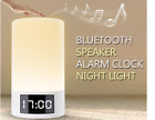 Alarm Clock Portable Wireless Bluetooth Speaker LED Light FM Radio Hands free