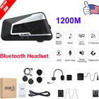 T9S 1200M Bluetooth Headset Motorcycle Intercom Hands Free A2DP EDR Interphone