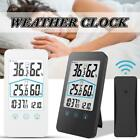 Creative Weather Clock Electronic Touch Type Digital Thermometer Indoor/Outdoor