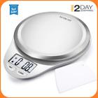 Bascula de cocina digital de precision escala de alimentos 11lb 5kg acero inox