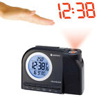 NEW (Set) New Datexx - Radio Controlled LED Projection Alarm Clock w/ Batteries