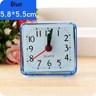 Square Small Bed Compact Travel Quartz Beep Alarm Clock Cute Portable Blue 2018