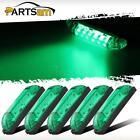 "Green - 6LED 4"" Utility Strip Light Bar-Led Marker Light 12V Low Amp Draw 5pcs"