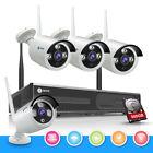Wireless 4CH 1080P NVR 4x 1.0MP IR-Cut IP Camera Wifi CCTV Security System 500GB