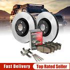 [Kit612] Front Brake Rotors & Ceramic Brake Pads w/Hardware